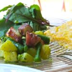 2016年5月 地中海料理「クラセ・メディテラネア」メニュー『タコとジャガイモのマリネとたまねぎのフリッタータの盛り合わせ』