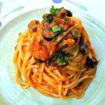 スパゲッティ ツナ入りプッタネスカのソース