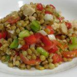 esnalada de lentejas (レンズ豆のサラダ)|渡辺万里のスペイン料理